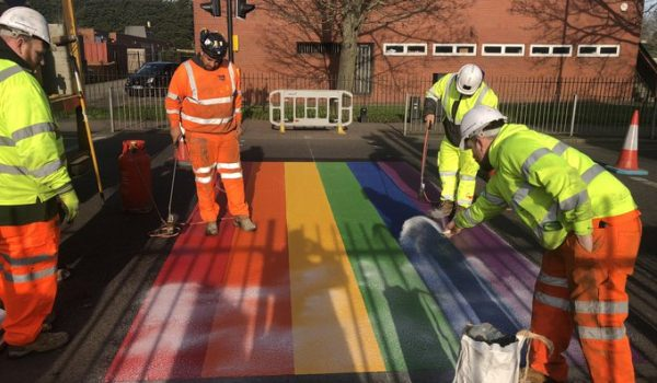 London school abused over LGBT rainbow crossing